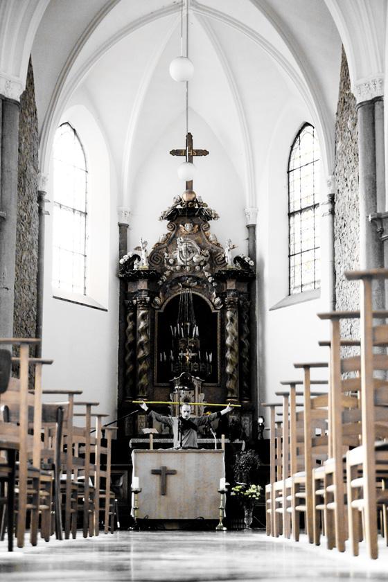 Lars in de kerk van Macon